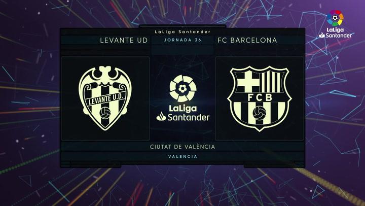 LaLiga Santander (Jornada 36): Levante 3-3 Barcelona