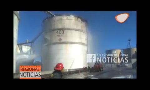Explosión e incendio en la planta de Vicentín