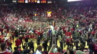 Fans celebrate UNLV win over No. 3 Arizona