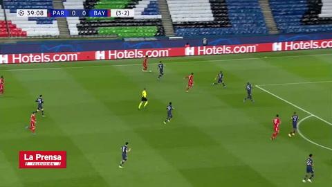 Choupo-Moting anota el 1-0 del Bayern Múnich ante PSG en la Champions League