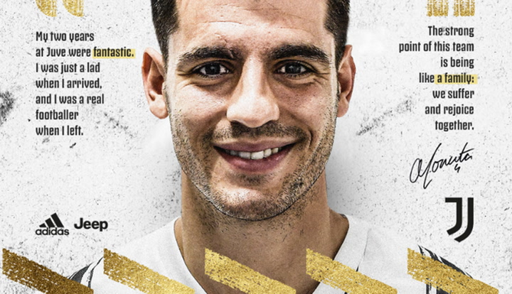 Morata, cedido a la Juventus