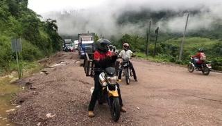 Lluvia deja sin paso la carretera de Copán hacia San Pedro Sula