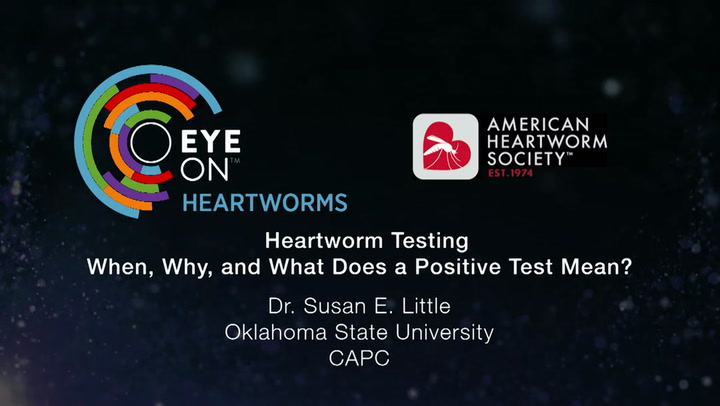 01 Heartworm Testing: When, Why, and What Does a Positive Test Mean? (Susan  E  Little)