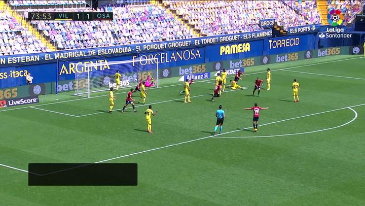 Gol de Budimir (1-2) en el Villarreal 1-2 Osasuna