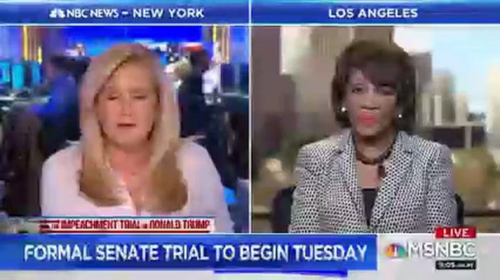 Maxine Waters: If Trump Is Acquitted by the Senate 'We Will Not Stop' Investigating Him