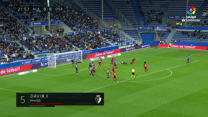 Gol de David García (0-1) en el Alavés 0-2 Osasuna