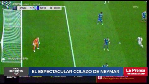 El espectacular golazo de Neymar con el PSG ante Estrasburgo