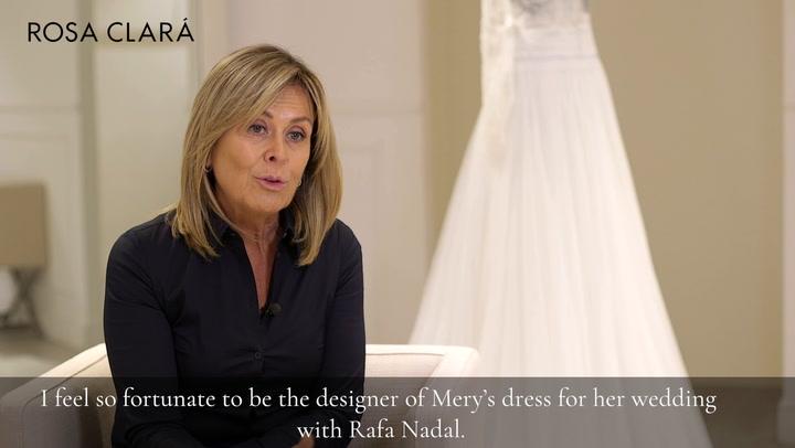 """Rosa Clará: """"Me siento muy afortunada de haber conocido a Mery y diseñar el vestido de novia que ella siempre soñó"""