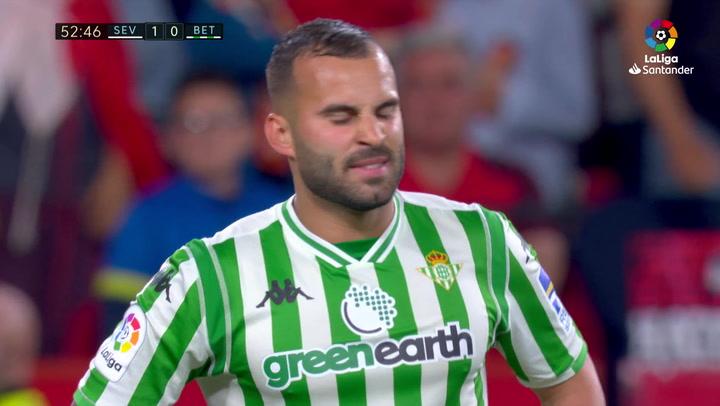LaLiga: Sevilla-Betis. Ocasiones falladas por Jesé