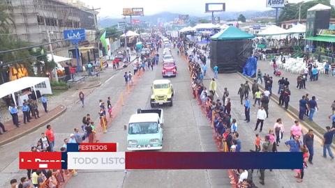 Todo listo para el carnaval de Tegucigalpa