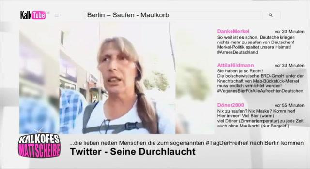 Kalkofes Mattscheibe Clip: Berliner sind Scheiße-Frau