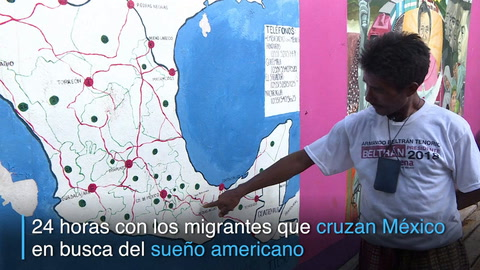 24 horas con los migrantes que cruzan México