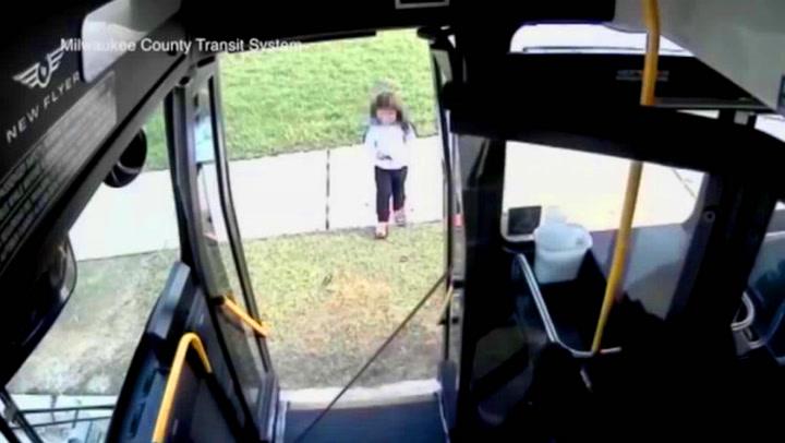 Bortkommen jente reddet av snill bussjåfør