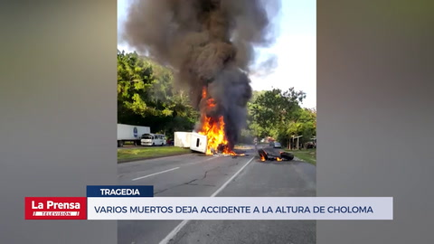 Varios muertos deja accidente a la altura de Choloma