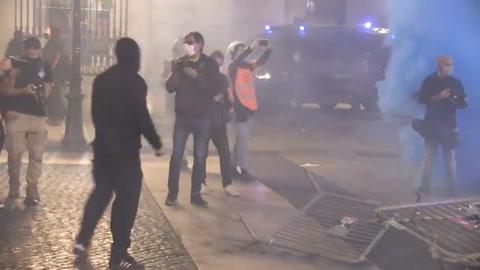 Manifestación anticoronavirus genera en disturbios en Barcelona