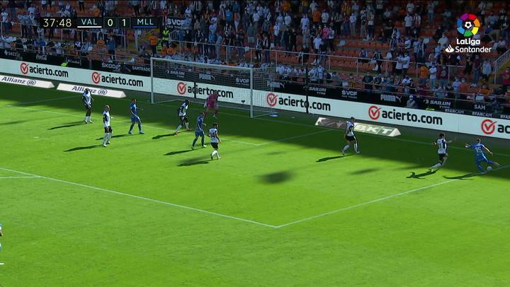 Gol de Diakhaby (p.p) (0-2) en el Valencia 2-2 Mallorca