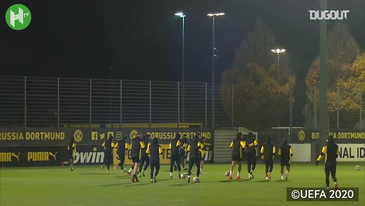 Haaland trains with Dortmund ahead of Brugge clash