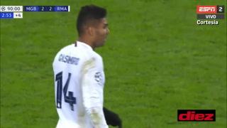 Sergio Ramos cumple como '9´ de área y asiste a Casemiro en gol de último minuto del Real Madrid