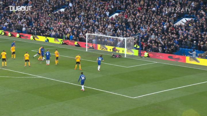 Eden Hazard's 50th goal at Stamford Bridge