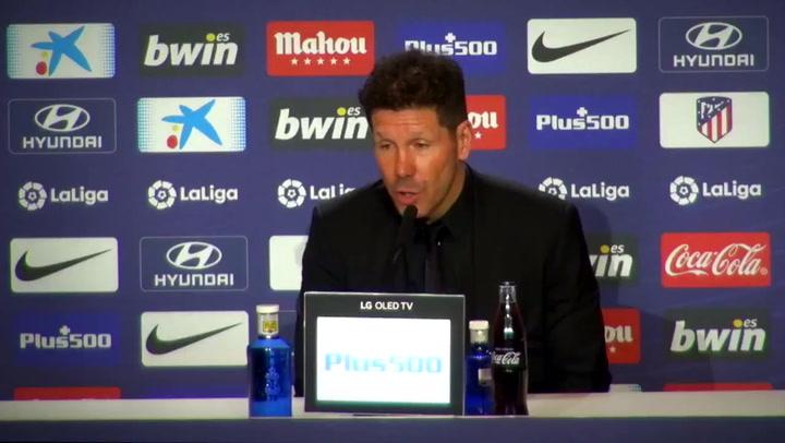 Declaraciones de Simeone, Saúl y Thomas al final del partido