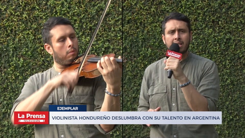 Violinista hondureño deslumbra con su talento en Argentina