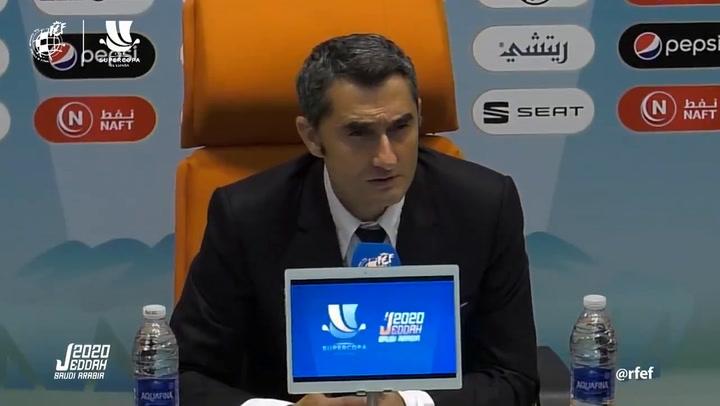 Ernesto Valverde habló tras la derrota ante el Atlético