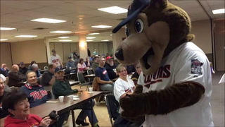 TC Bear meet and greet at Twins Caravan