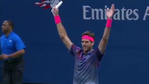 Del Potro eliminó a Federer y jugará la semifinal del US Open ante Rafael Nadal