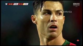 VIDEO: Cristiano Ronaldo le marca a Lituania de penal y llega a su gol 96 con Portugal