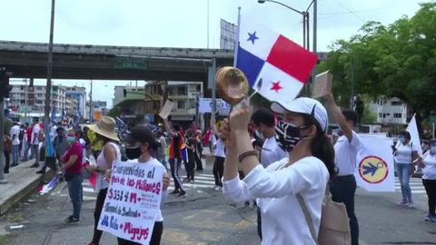 Presidente de Panamá advierte entre protestas que crisis interna por coronavirus se agudizará