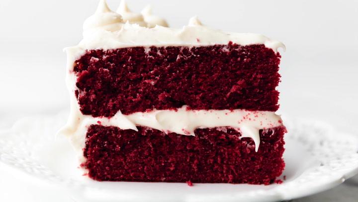 Awesome Red Velvet Cake With Cream Cheese Frosting Sallys Baking Addiction Funny Birthday Cards Online Alyptdamsfinfo