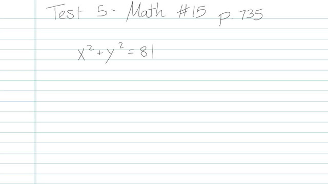 Test 5 - Math - Question 15