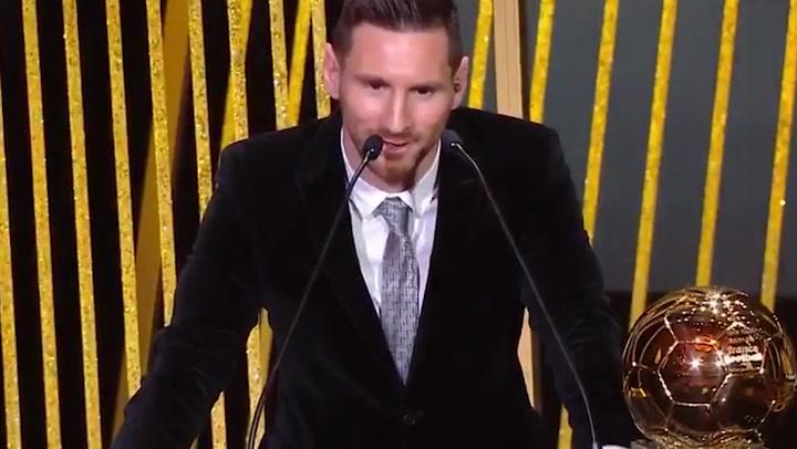 Leo Messi habla tras ganar el Balon de Oro