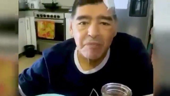 Sale a la luz el último vídeo de Maradona con vida: