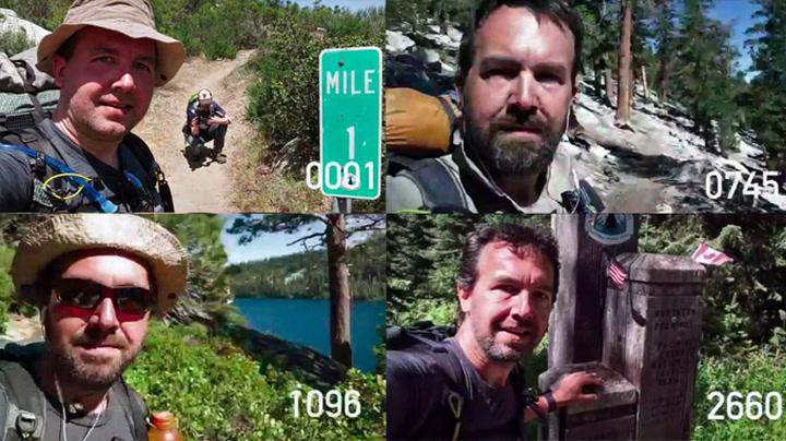 Andy gikk USA på langs - tok selfie hver mile