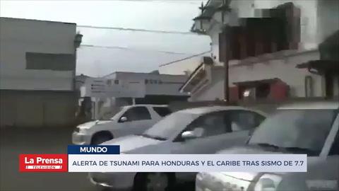 Alerta de tsunami para Honduras y el Caribe tras sismo de 7.7