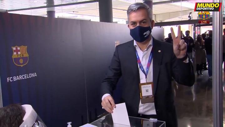 Elecciones Barça: El voto de Víctor Font, socio número 67.970, candidato a la presidencia
