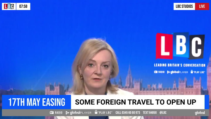 'Don't book foreign summer holidays yet', says Liz Truss
