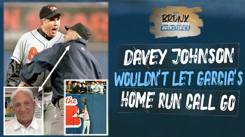 Umpire Richie Garcia clashed with Davey Johnson a year after Jeffrey Maier play