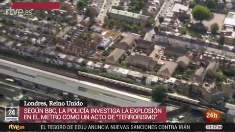 Una explosión en el metro de Londres dejó esta mañana una decena de heridos