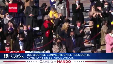 Joe Biden dio su discurso inaugural como presidente de los Estados Unidos