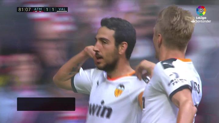 Gol de Parejo (1-1) en el Atlético 1-1 Valencia