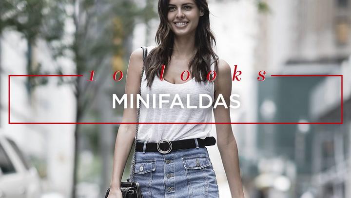 Minifalda vaquera o de cuero: ¿Cómo la combino?