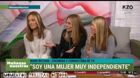 Cómo fue el regreso a la TV de la Trilliza María Eugenia tras la muerte de su hija