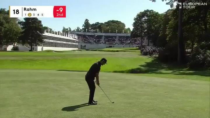 El eagle de Jon Rahm en el 18 para ponerse colíder del BMW PGA Championship