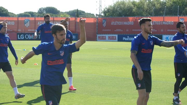 Intensidad en el regreso del Atlético a los entrenamientos