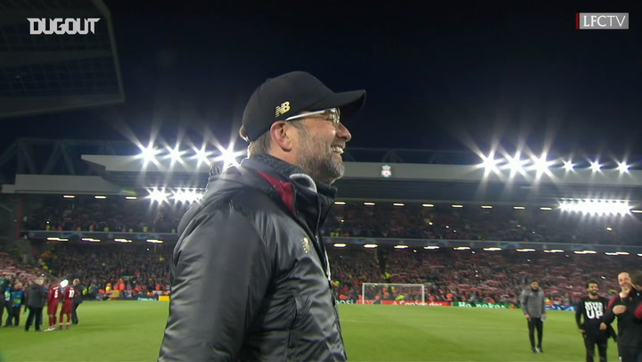 Liverpool Players And Staff Sing 'You'll Never Walk Alone' In Front Of The Kop