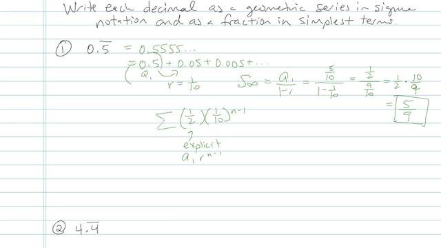 Geometric Series - Problem 11