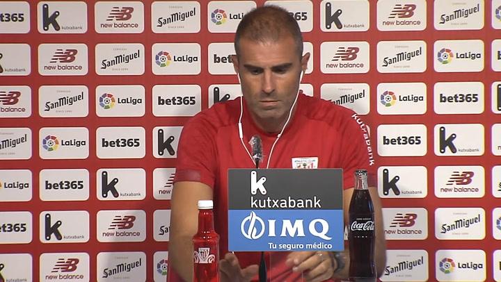 La rueda de prensa de Gaizka Garitano previa al partido contra el Barça
