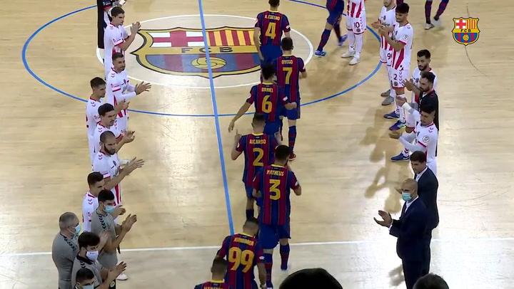 Resumen del Barça - Jimbee Cartagena (2-2) de la Liga de fútbol sala